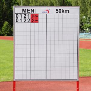 Polanik wedstrijd snelwandel diskwalificatiebord